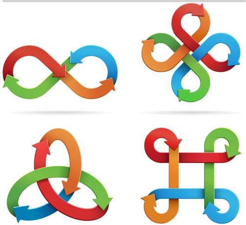 Arrows Logotypes set vector