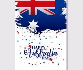 Australia day flyer with brochure template vector 01