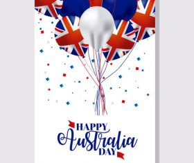 Australia day flyer with brochure template vector 02