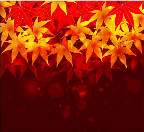 Autumn Backgrounds Mix vectors