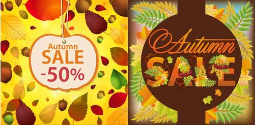 Autumn Sale Backgrounds 2 vector