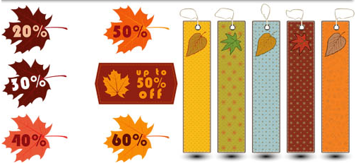 Autumn Sale Stickers vector
