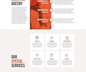 Award Awinning Agency Website PSD Template