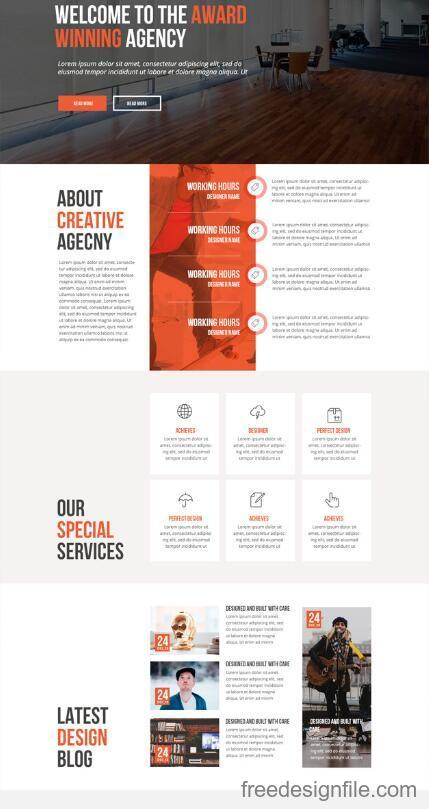 Award Awinning Agency Website PSD Template