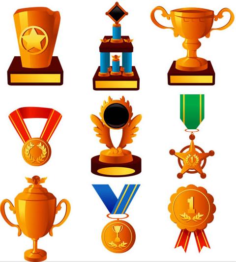 Award Golden Icons vector
