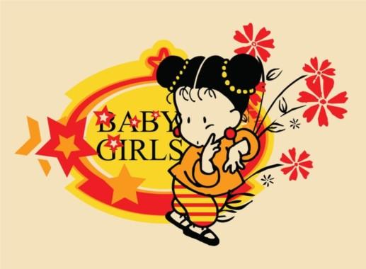 Baby Girl Vector vector graphic