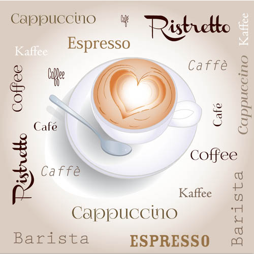 Backgrounds with Coffee 2 set vector