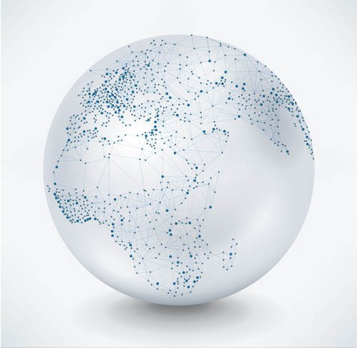 Backgrounds with Globes 3 vector