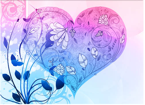 Backgrounds with Hearts Set vector design