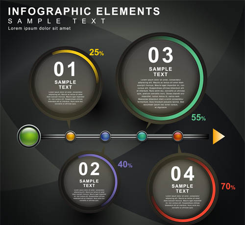Backgrounds with Infographics 9 Illustration vector