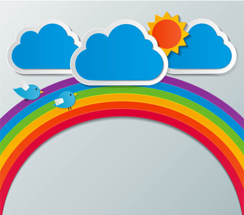 Backgrounds with Rainbow Vector Design