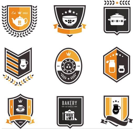 Bakery Labels vectors
