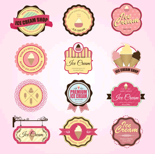 Bakery Labels graphic vector
