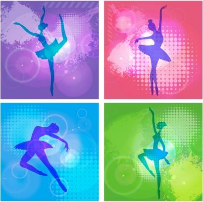 Ballet girl dance Free vectors