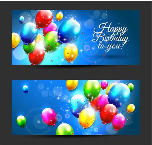 Balloon Banners shiny vector
