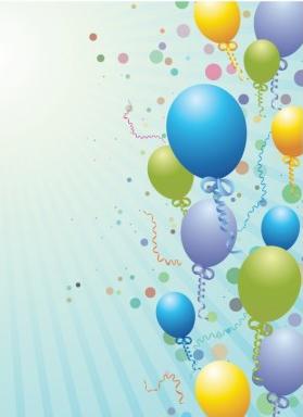 Balloons design background art shiny vector