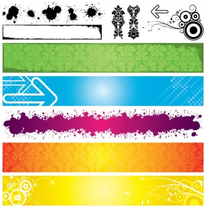Banner background 07 design vectors