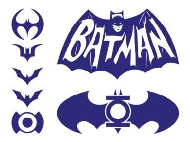 Batman Logos Pack set vector