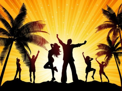 Beach Party vector material