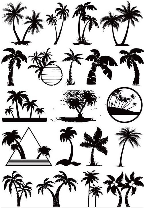 Beach Symbols vector graphics