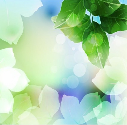 Beautiful Green Leaf Background vectors graphic