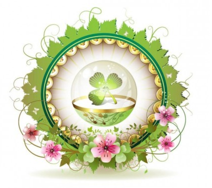 Beautiful background clover 01 vector