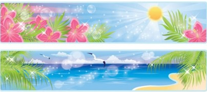 Beautiful coastal scenery 03 vectors