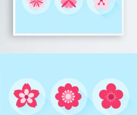 Beautiful flower petals vector