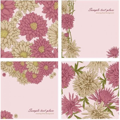 Beautiful flowers background vector design