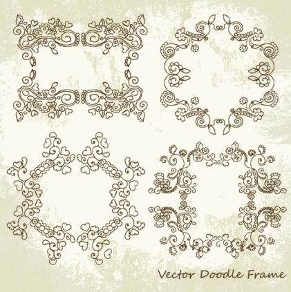 Beautiful lace pattern 01 vector graphics
