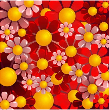Beautiful red flower background vector