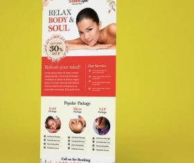 Beauty and Spa Banner PSD Template Material