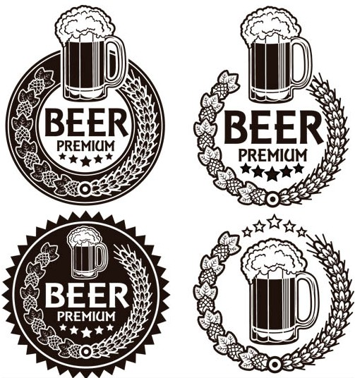 Beer Grunge Labels vector