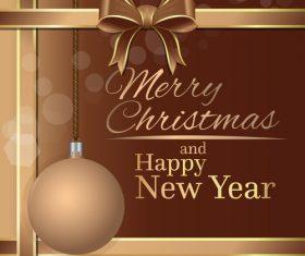 Beige festive background for Christmas vector