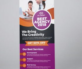 Best Agency Roll-Up Banner PSD Template