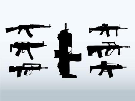 Big Guns vector set