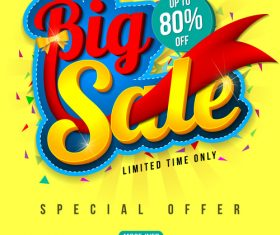 Big sale special offer poster template vector 01