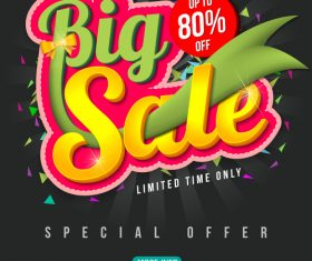 Big sale special offer poster template vector 03