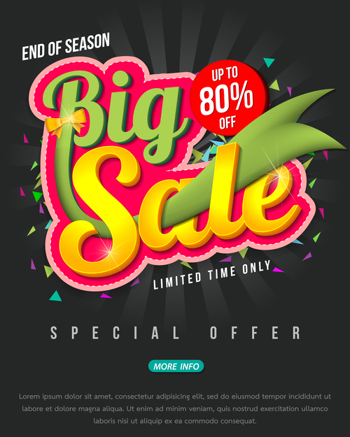 Special Offer Poster Template Vector 03