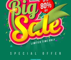 Big sale special offer poster template vector 04