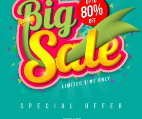 Big sale special offer poster template vector 05
