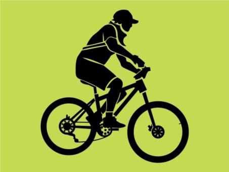 Biker Silhouette Illustration vector