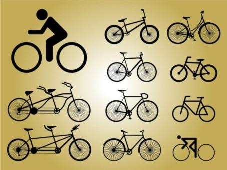 Biking Icons vectors graphic