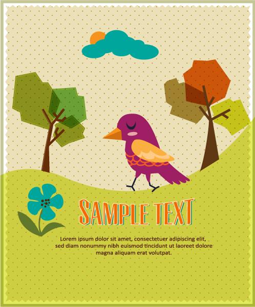 Bird background 1 design vector