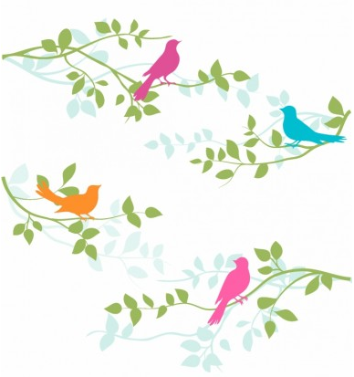Birds and Branches free vector