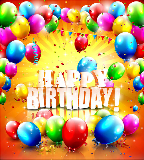 Birthday Backgrounds 4 vector