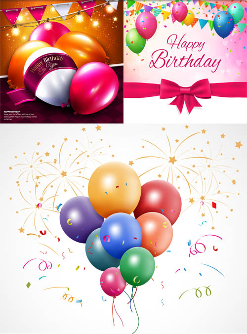 Birthday Backgrounds 5 creative vector
