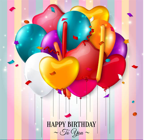 Birthday Backgrounds 7 vectors graphic