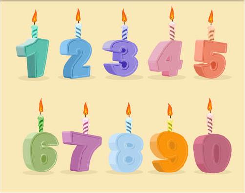 Birthday Candles design vector