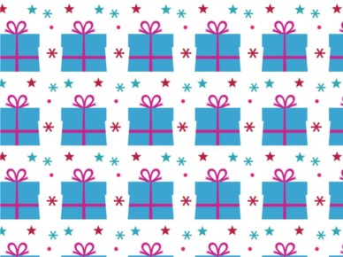 Birthday Present Pattern vector